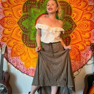Bohemian chill gypsy skirt